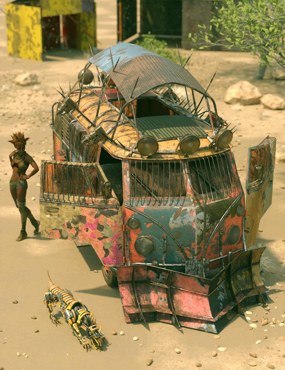 Retro Camper Van Apocalypse Add-On by: ForbiddenWhispersDavid Brinnen, 3D Models by Daz 3D