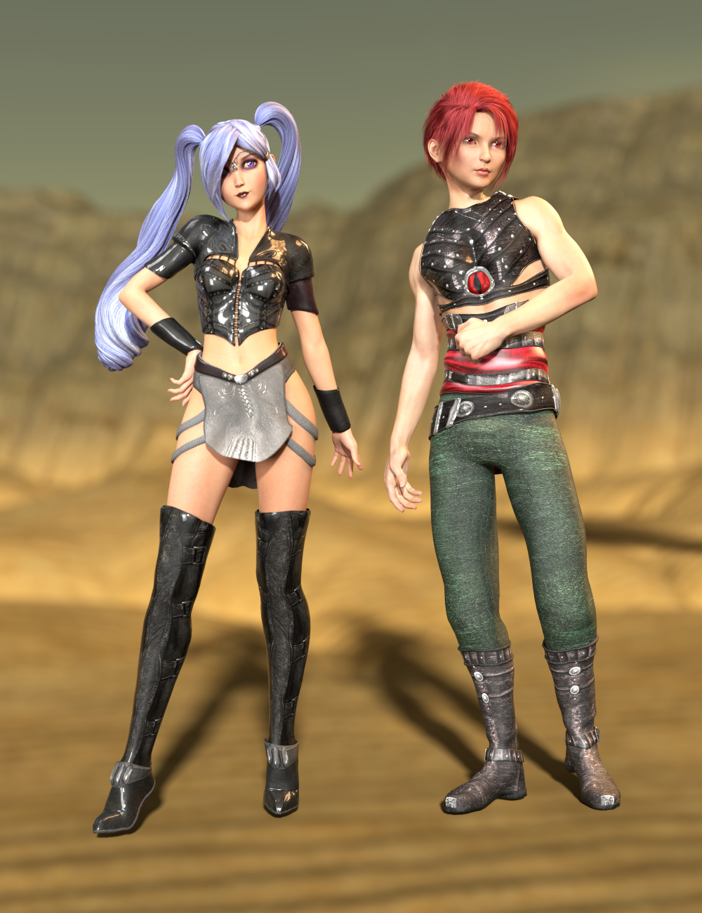 SY Aiko 3 and Hiro 3 Clones for Genesis 8 by: Sickleyield, 3D Models by Daz 3D