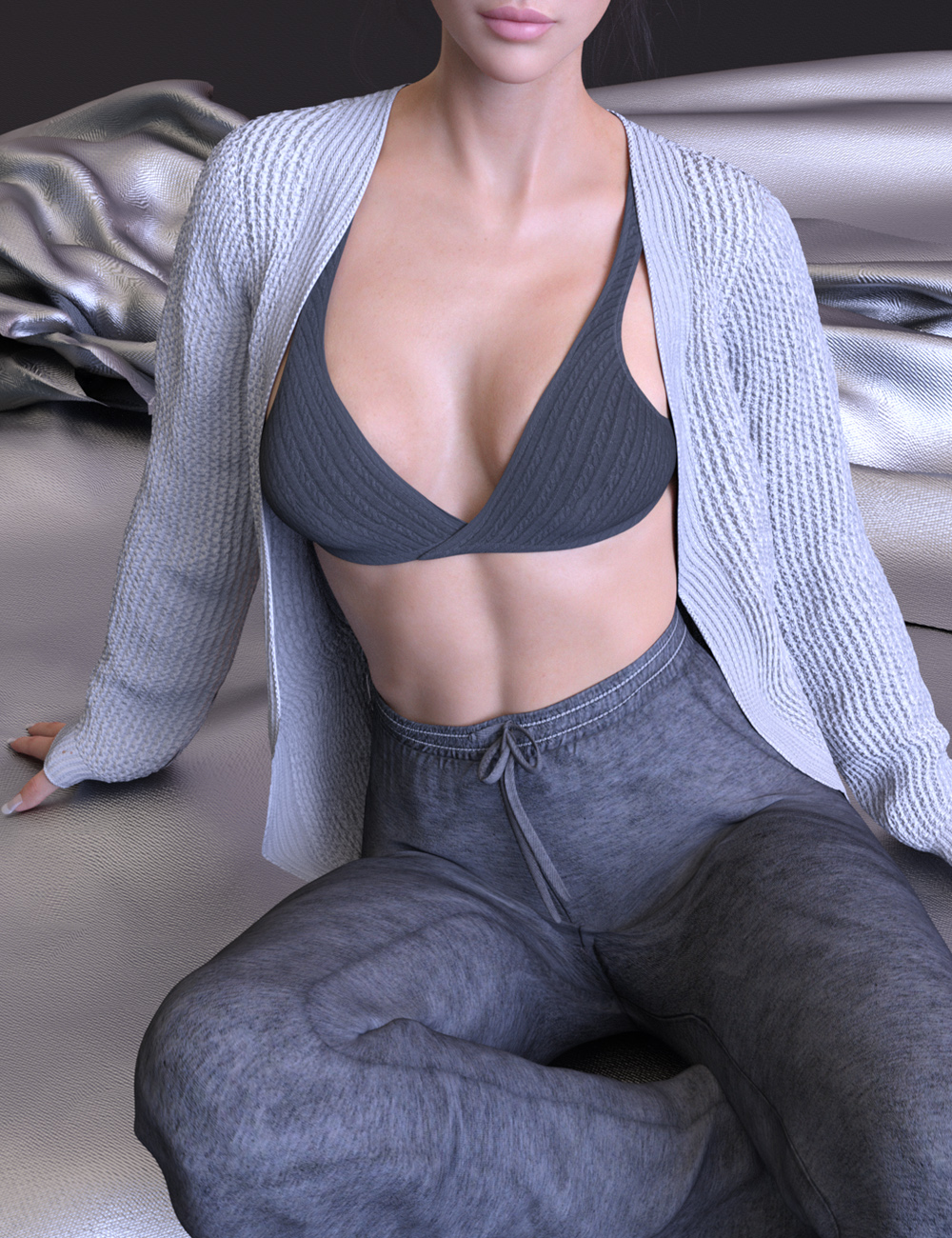 X-Fashion Lazy Outfit for Genesis 8 and 8.1 Females by: xtrart-3d, 3D Models by Daz 3D
