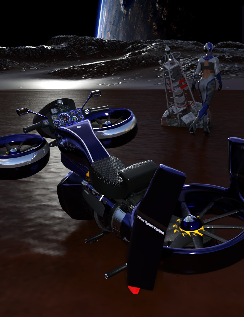 Valkyrie Cruiser by: nEO, 3D Models by Daz 3D