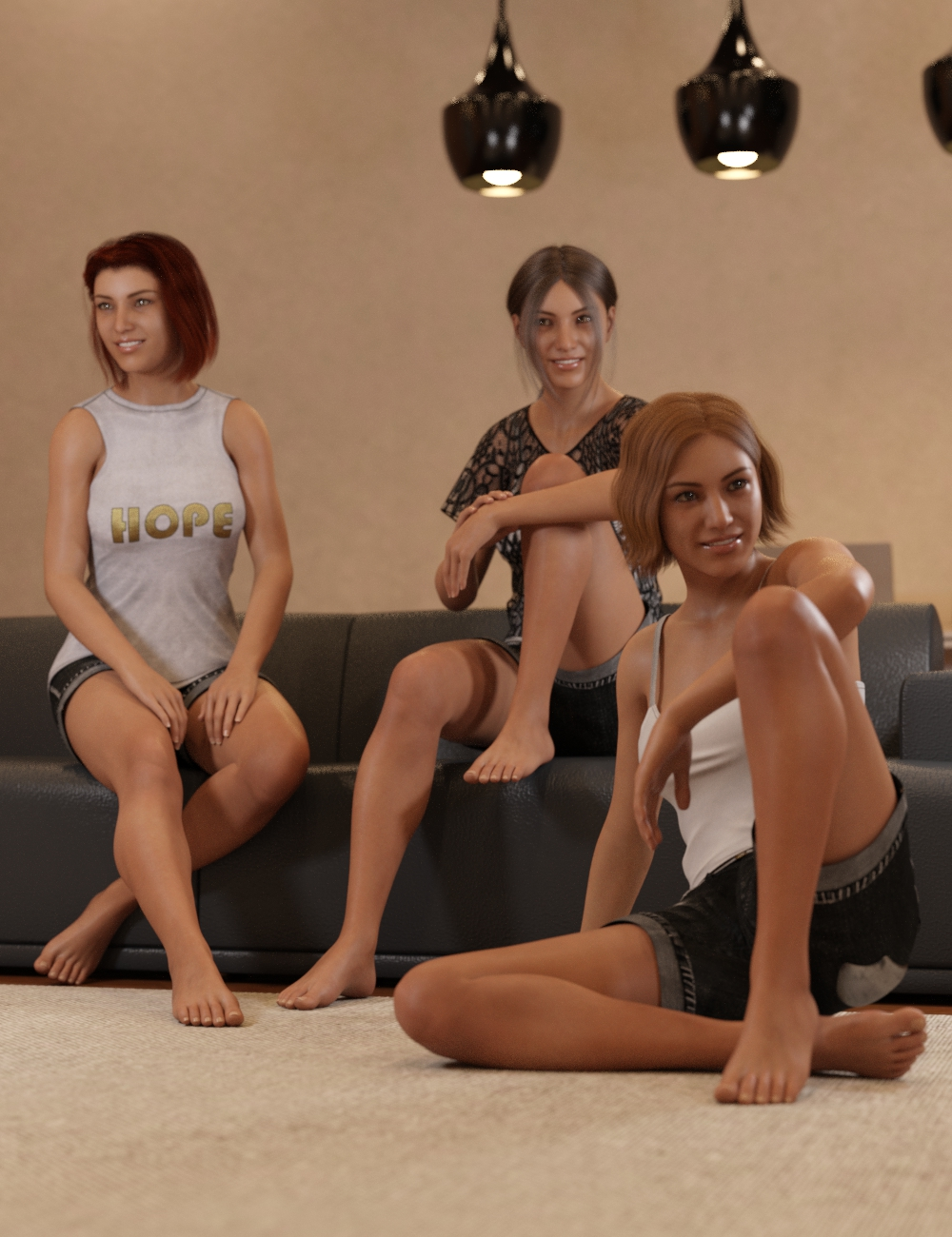 Just Sitting Around Poses for Genesis 8 and 8.1 Female by: Scuffles3d, 3D Models by Daz 3D