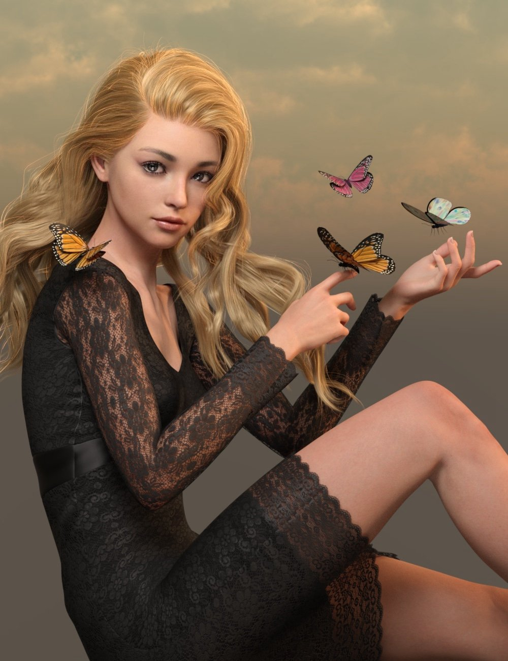Kuo for Genesis 8.1 Female by: Ergou, 3D Models by Daz 3D