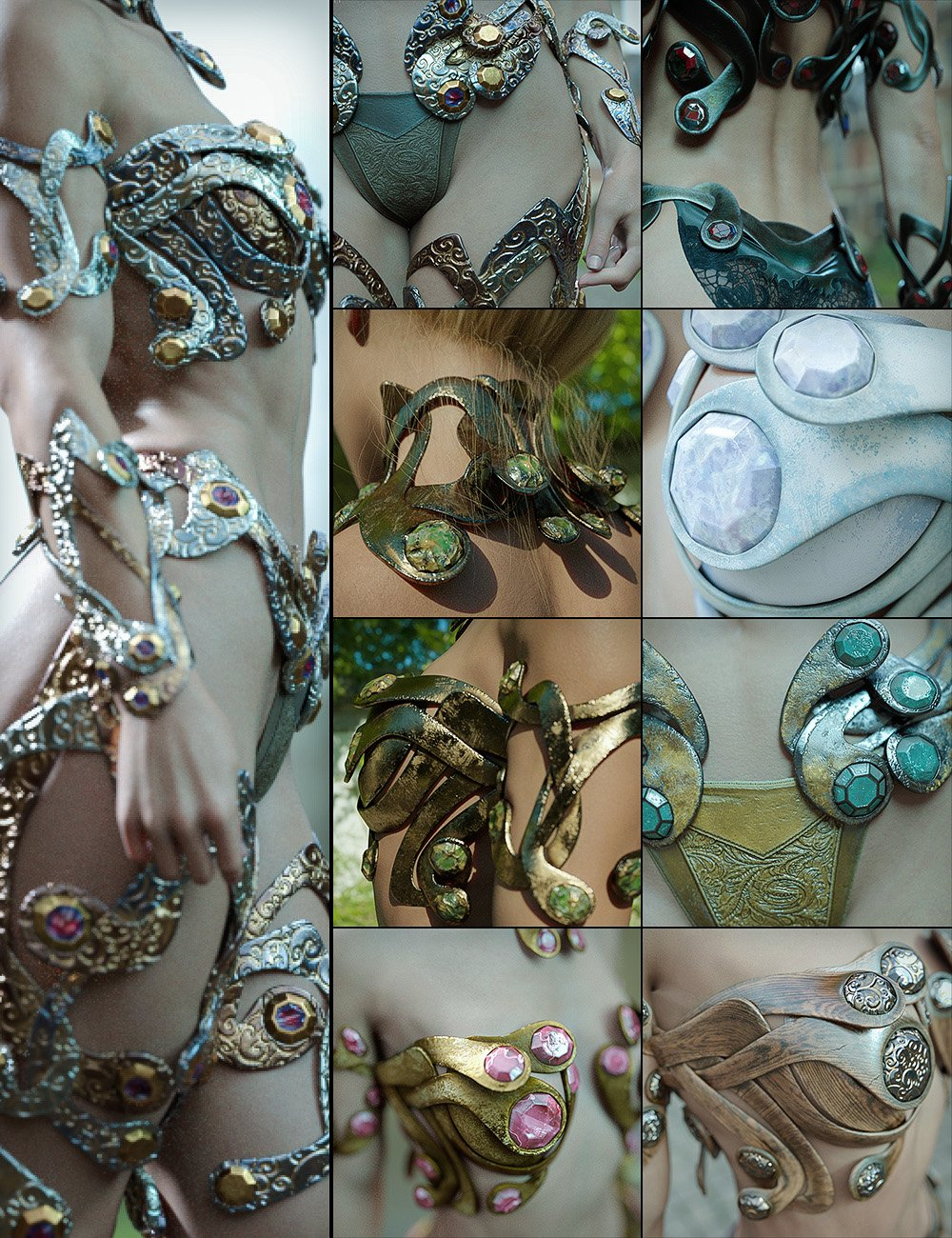 Styles Vol. 1 for Enchanting Ornaments by: Aeon Soul, 3D Models by Daz 3D