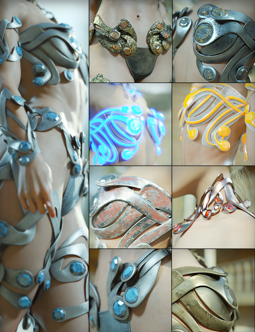 Styles Vol. 2 for Enchanting Ornaments by: Aeon Soul, 3D Models by Daz 3D