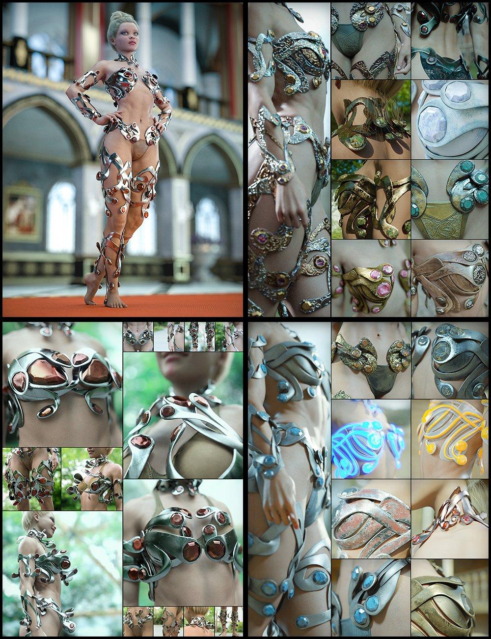 Enchanting Ornaments Bundle by: Aeon Soul, 3D Models by Daz 3D