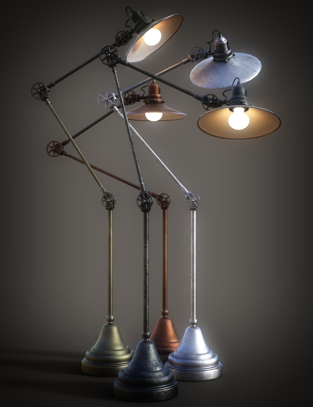 B.E.T.T.Y. Adjustable Floor Lamps by: B.E.T.T.Y, 3D Models by Daz 3D