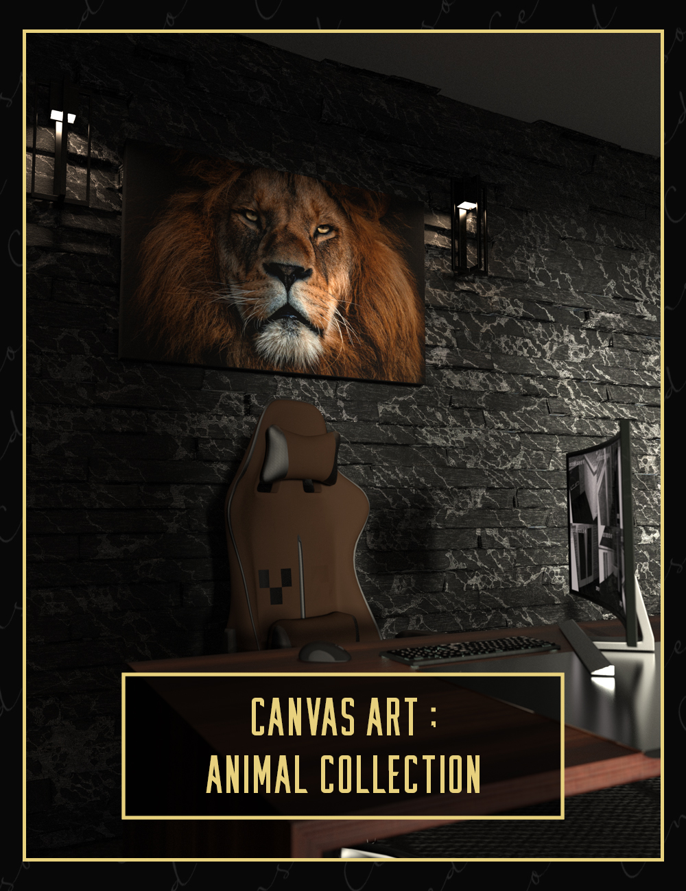 Canvas Art Animal Collection by: Censored, 3D Models by Daz 3D