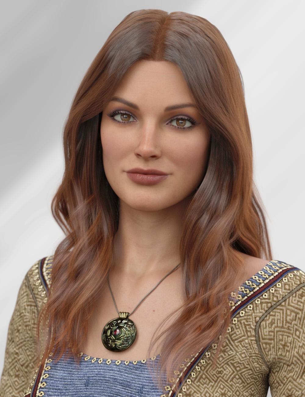 dForce Kensington Hair for Genesis 8 and 8.1 Females by: PhilW, 3D Models by Daz 3D