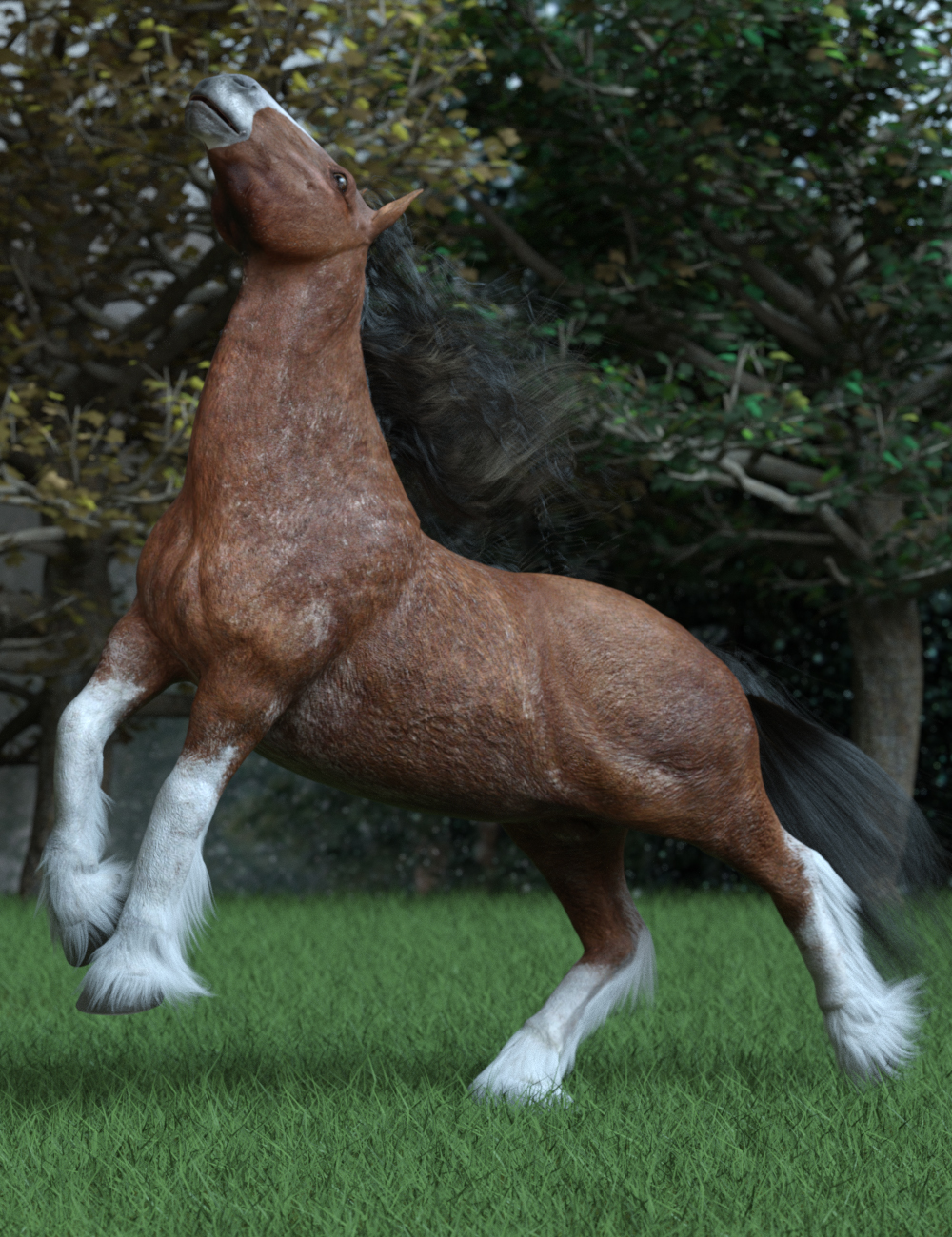 Heavy Horse Poses for Clydesdale by: Ensary, 3D Models by Daz 3D