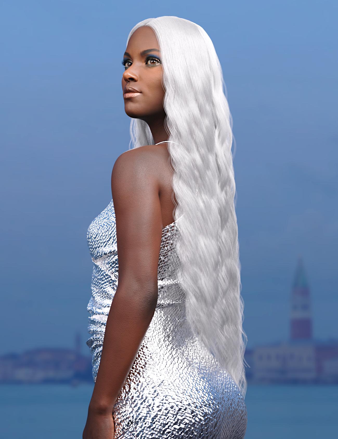 dForce Mermaid Hair for Genesis 8 and 8.1 Females by: Toyen, 3D Models by Daz 3D