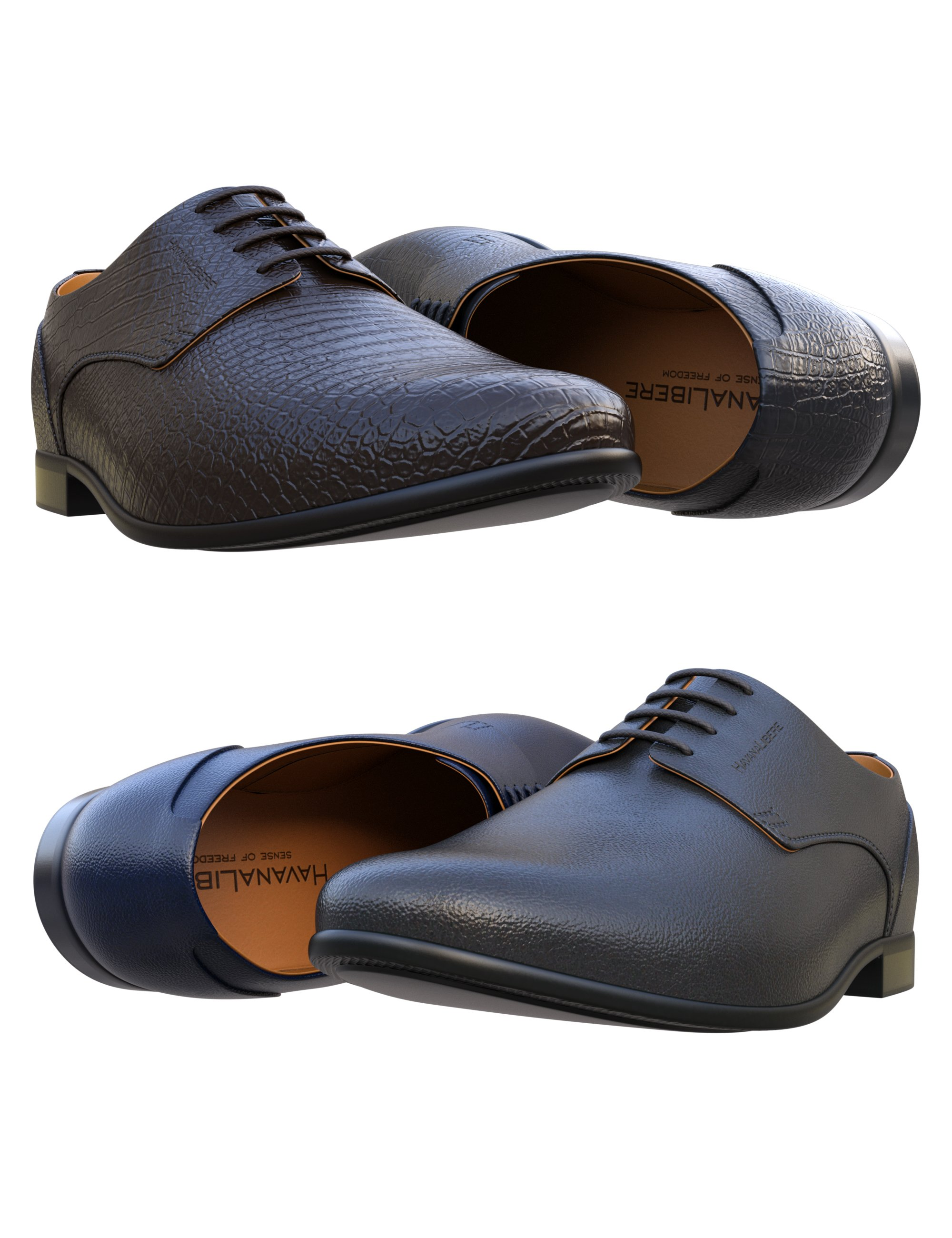 HL Derby Shoe for Genesis 8 and 8.1 Males by: Havanalibere, 3D Models by Daz 3D