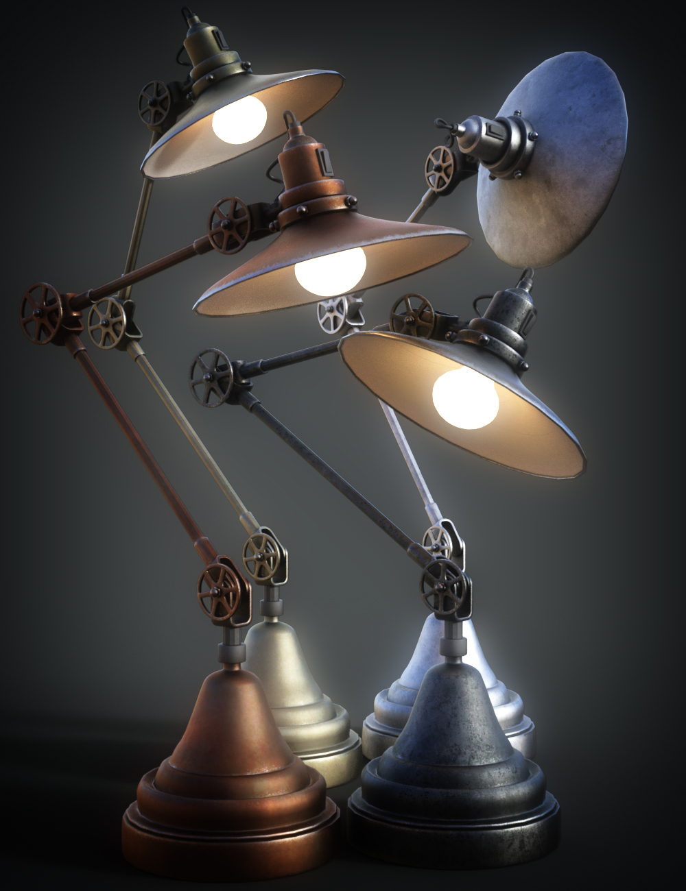 B.E.T.T.Y. Adjustable Desk Lamps by: B.E.T.T.Y, 3D Models by Daz 3D