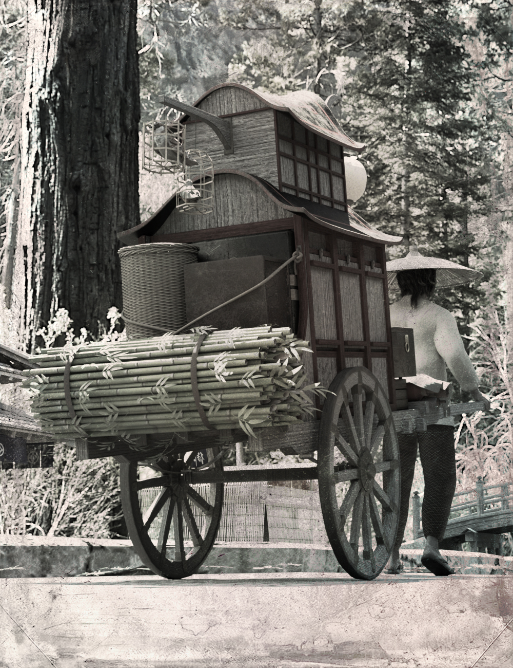 Trade Wagon by: Human, 3D Models by Daz 3D