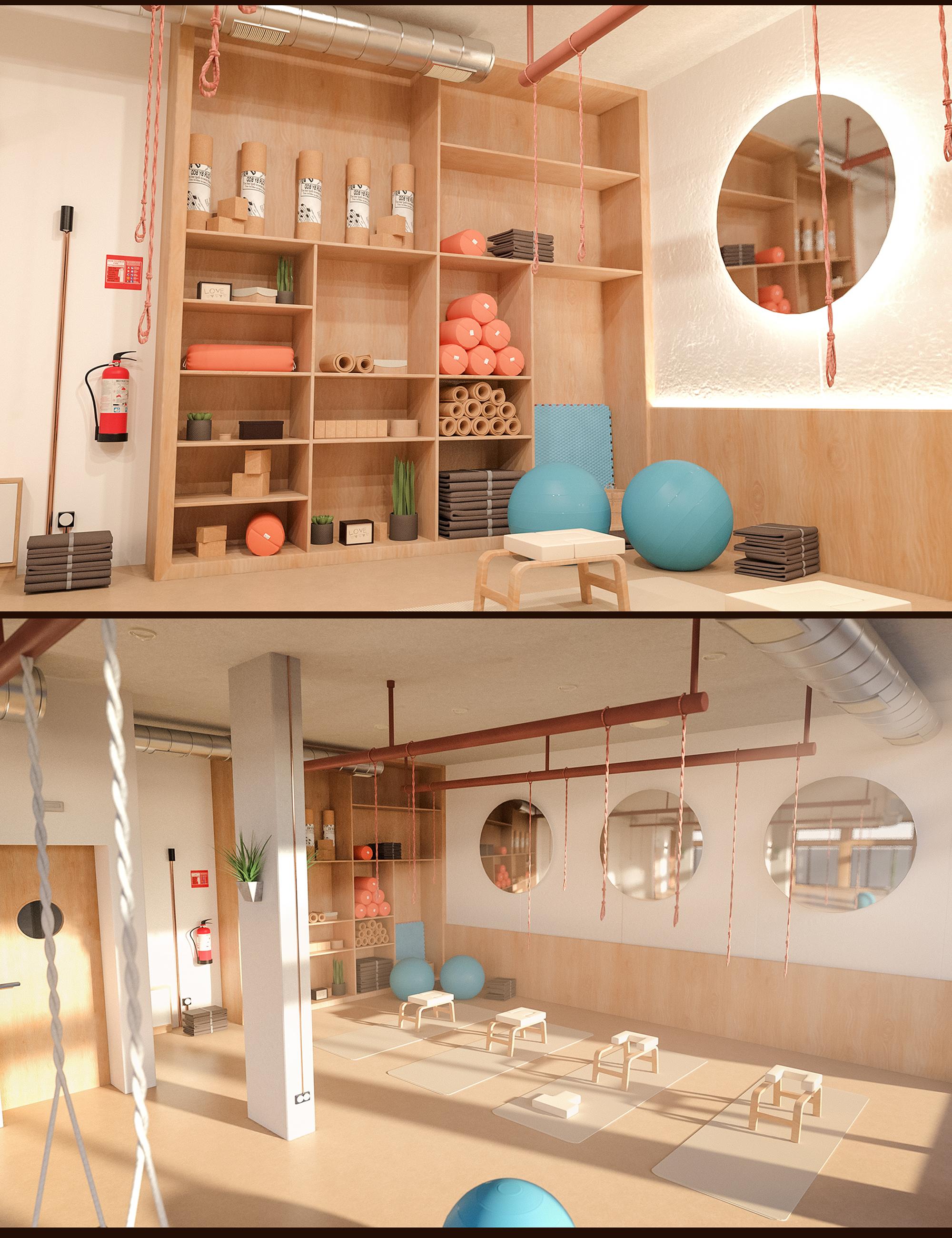 Yoga Club Classroom by: Polish, 3D Models by Daz 3D
