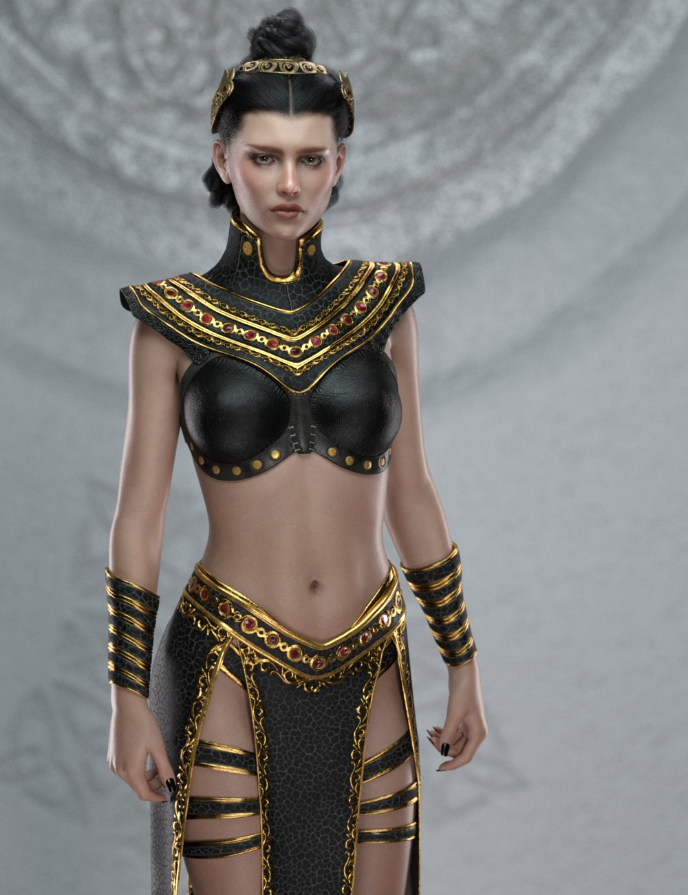 Night Queen Outfit for Genesis 8 Females by: GolaM, 3D Models by Daz 3D