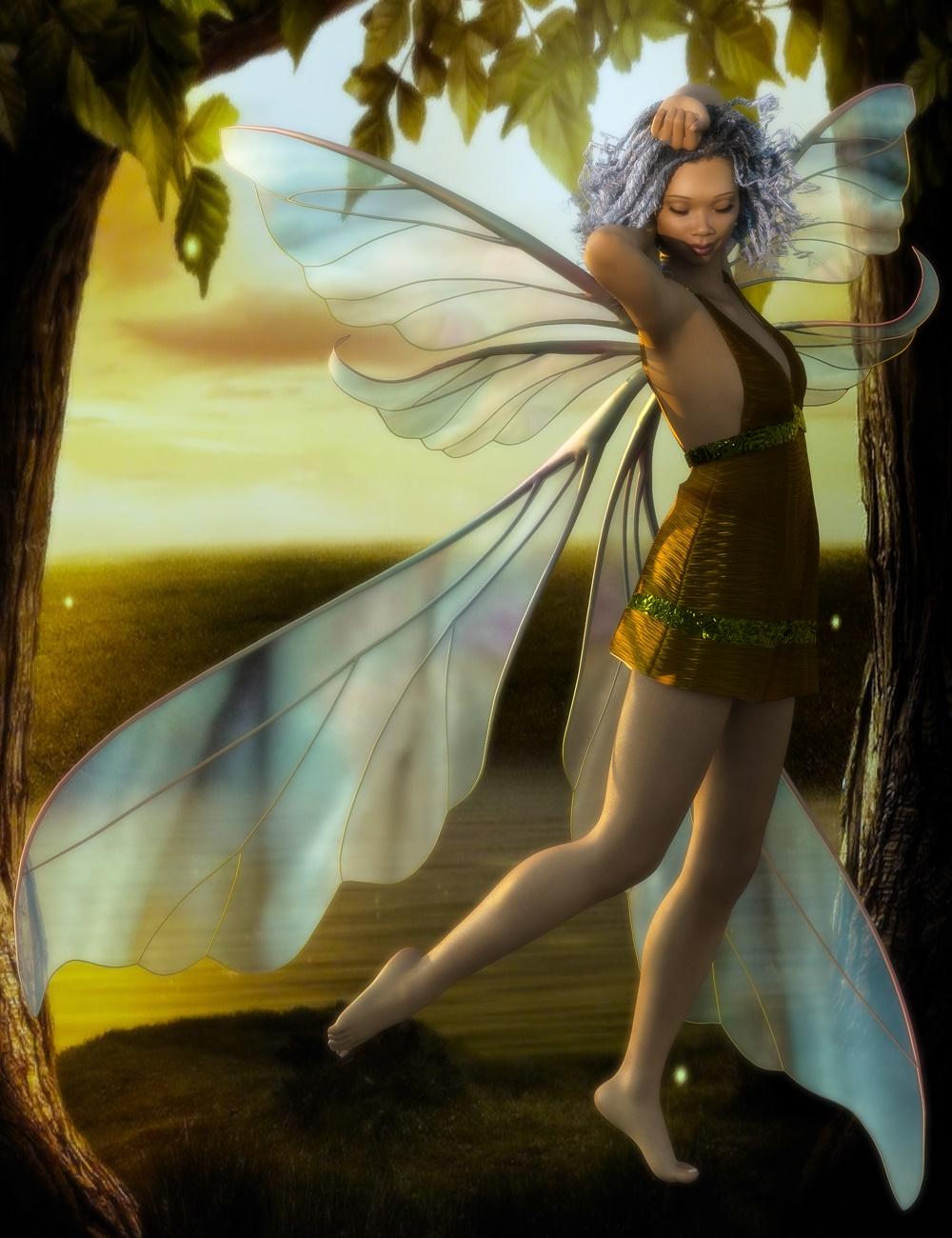 Contour Wings Lore for Genesis to Genesis 8.1 by: mirjagirl, 3D Models by Daz 3D