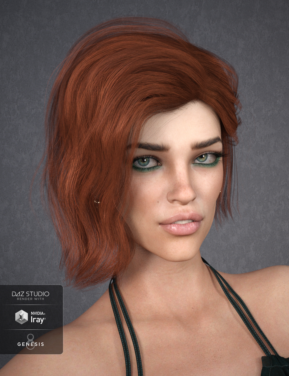 Kitty Hair for Genesis 8 Females by: SWAM, 3D Models by Daz 3D