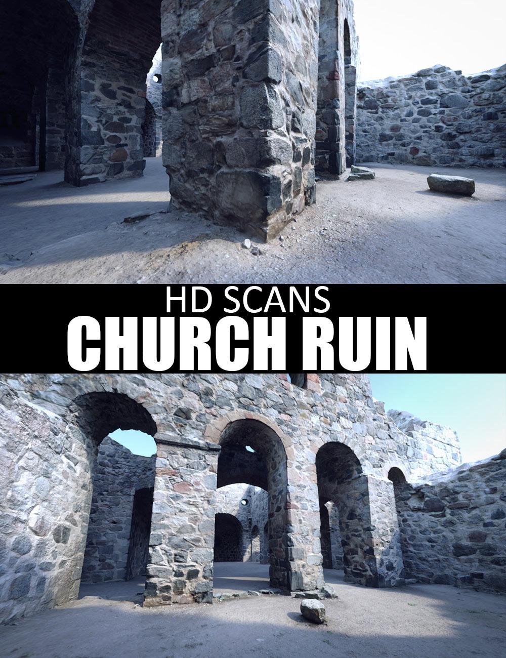 HD Scans Church Ruin by: Dreamlight, 3D Models by Daz 3D