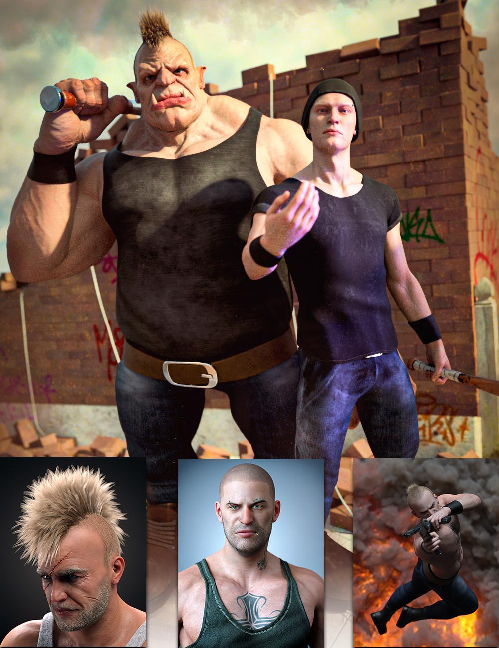 The Tough Guy Bundle by: , 3D Models by Daz 3D
