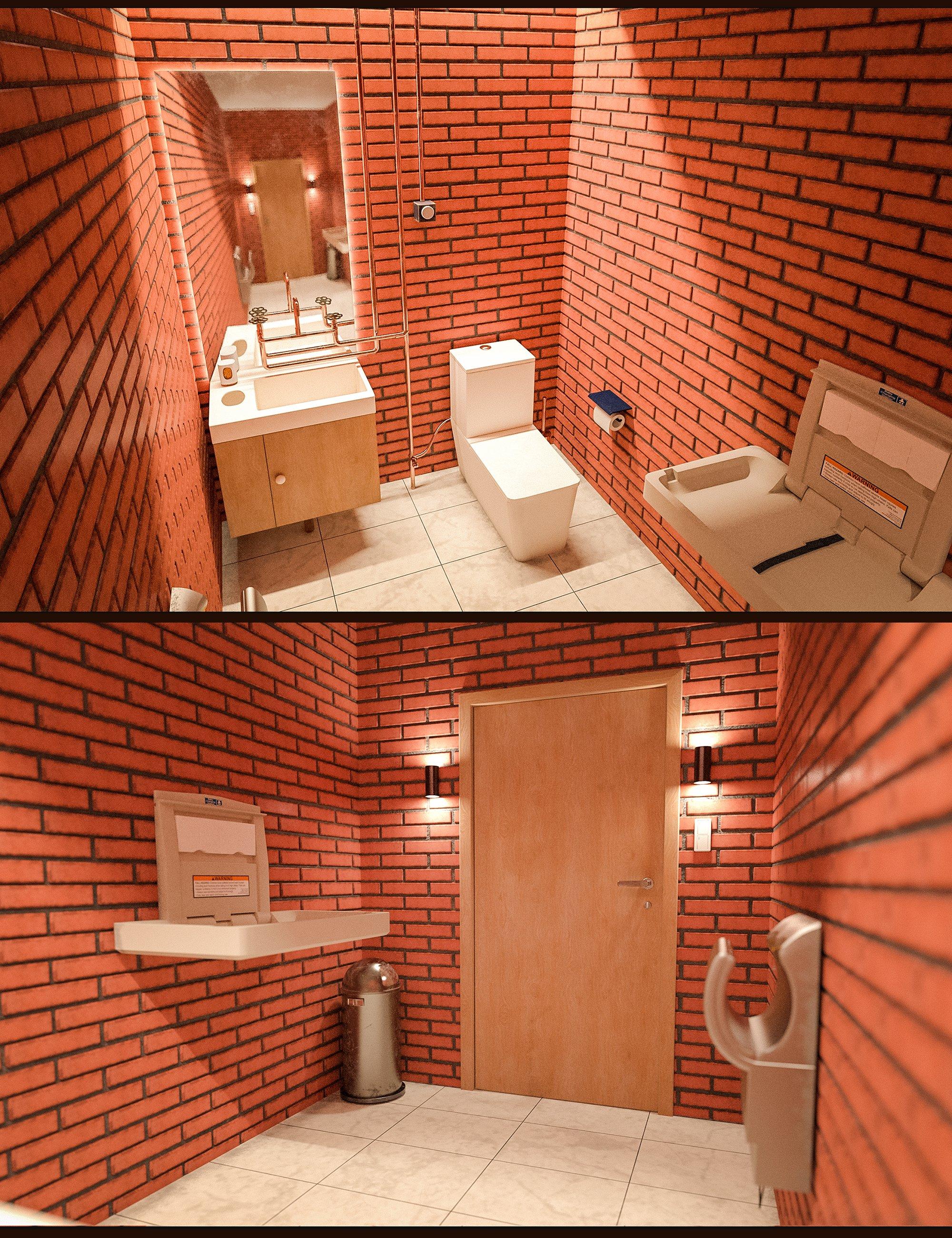 Yoga Club Washroom by: Polish, 3D Models by Daz 3D