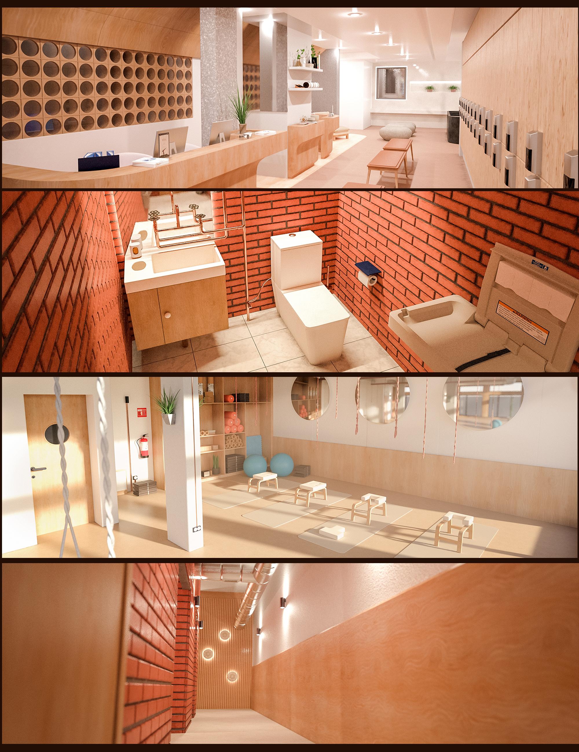 Yoga Club Environment Bundle by: Polish, 3D Models by Daz 3D