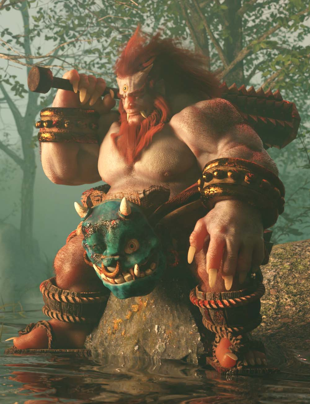 Oni Warrior Bundle by: , 3D Models by Daz 3D