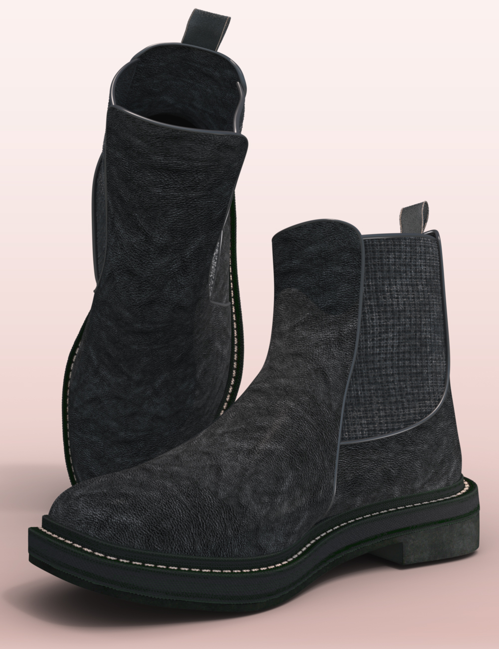 Fashion Basics: Chelsea Boots for Genesis 8.1 by: 3DStyle, 3D Models by Daz 3D
