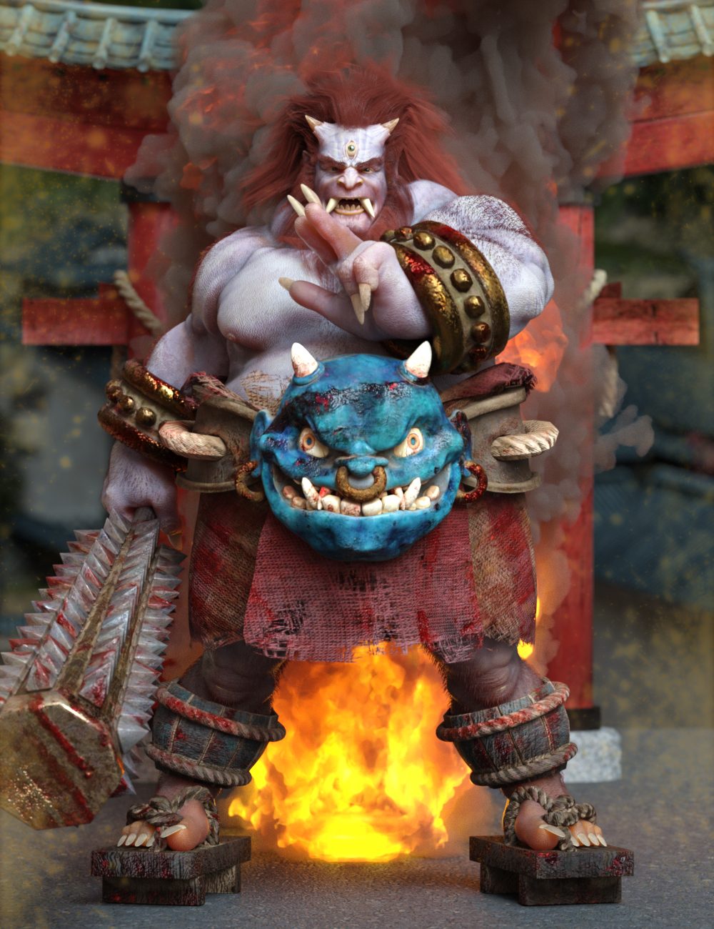 Oni Poses for Oni HD by: Ensary, 3D Models by Daz 3D