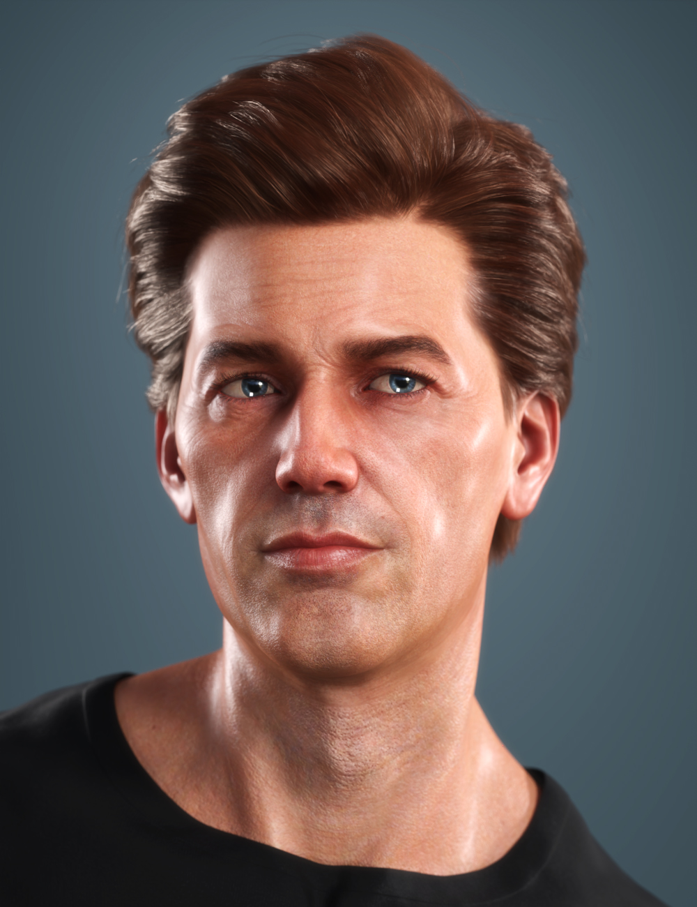 SP Hair 018 for Genesis 3 and 8 Males by: Sarah Payne, 3D Models by Daz 3D
