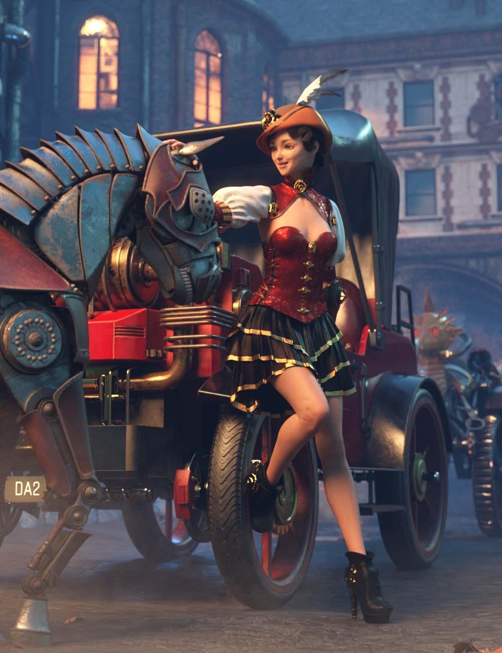 Steampunk Traveler Bundle by: , 3D Models by Daz 3D