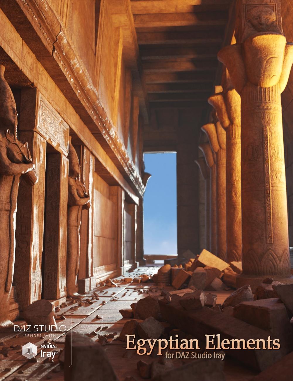 Egyptian Elements by: Andrey Pestryakov, 3D Models by Daz 3D
