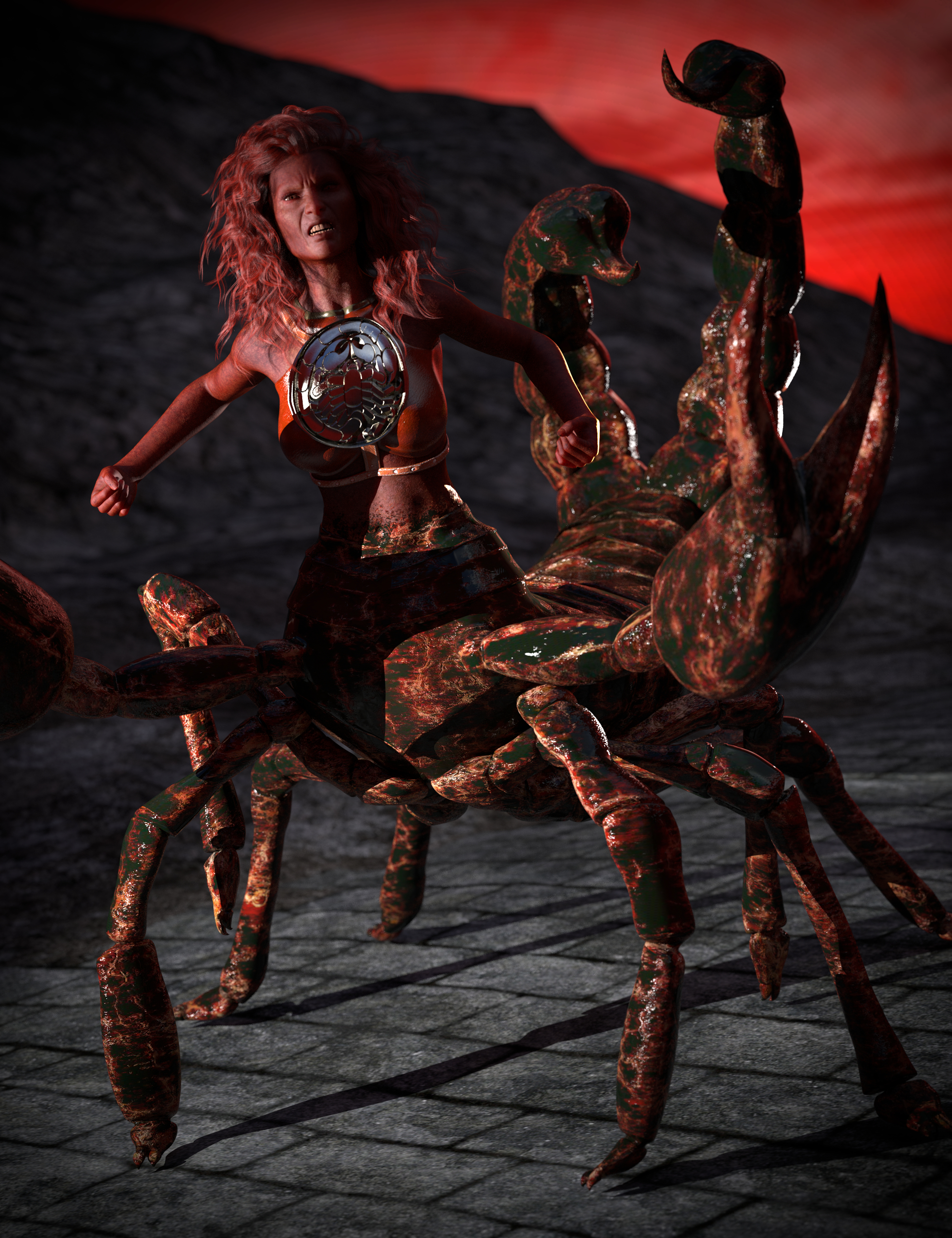 SYS Monsters in the Dark Textures for SY Scorpion Folk by: SickleyieldSade, 3D Models by Daz 3D