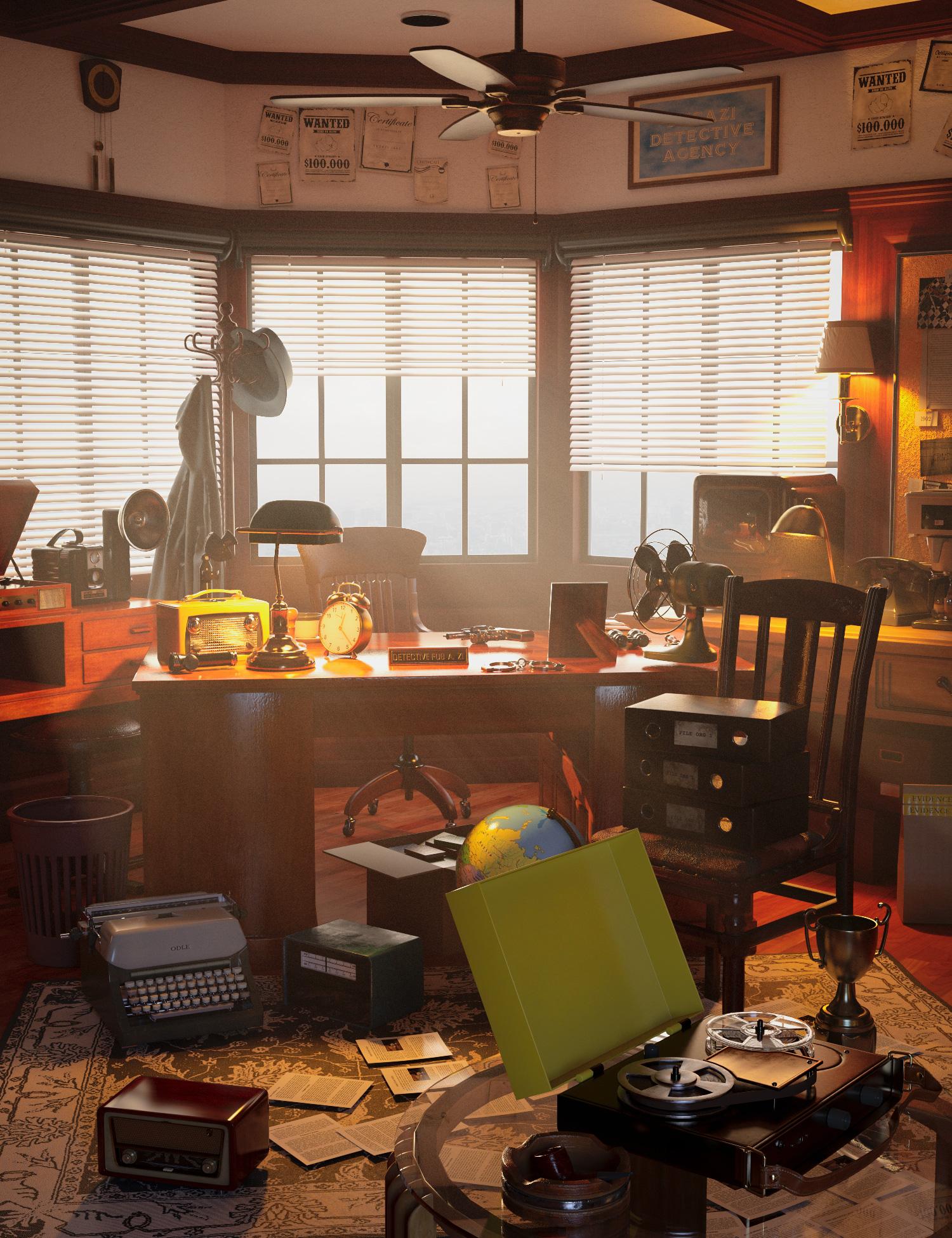 FG Detective Room by: Fugazi1968Ironman, 3D Models by Daz 3D