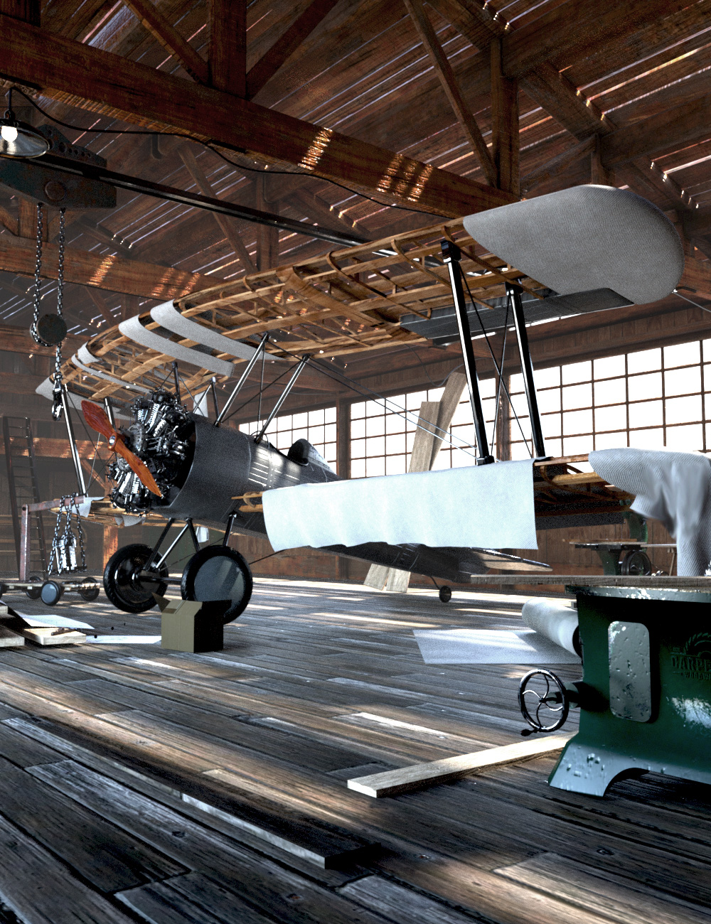 Aircraft Hangar by: Ansiko, 3D Models by Daz 3D