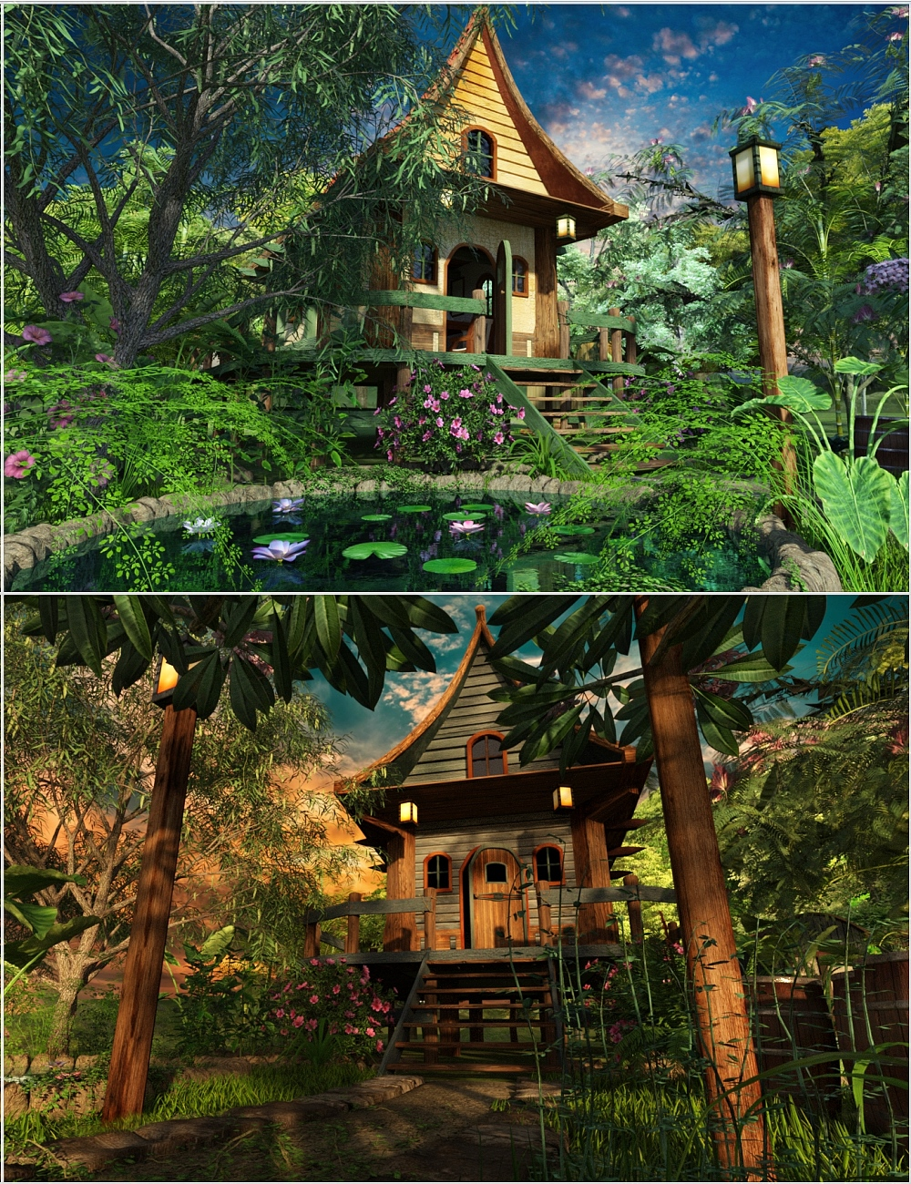 Tiny House and Parklands by: Magix 101, 3D Models by Daz 3D