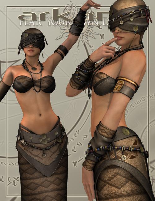 Arkana by: LesthatVal3dart, 3D Models by Daz 3D