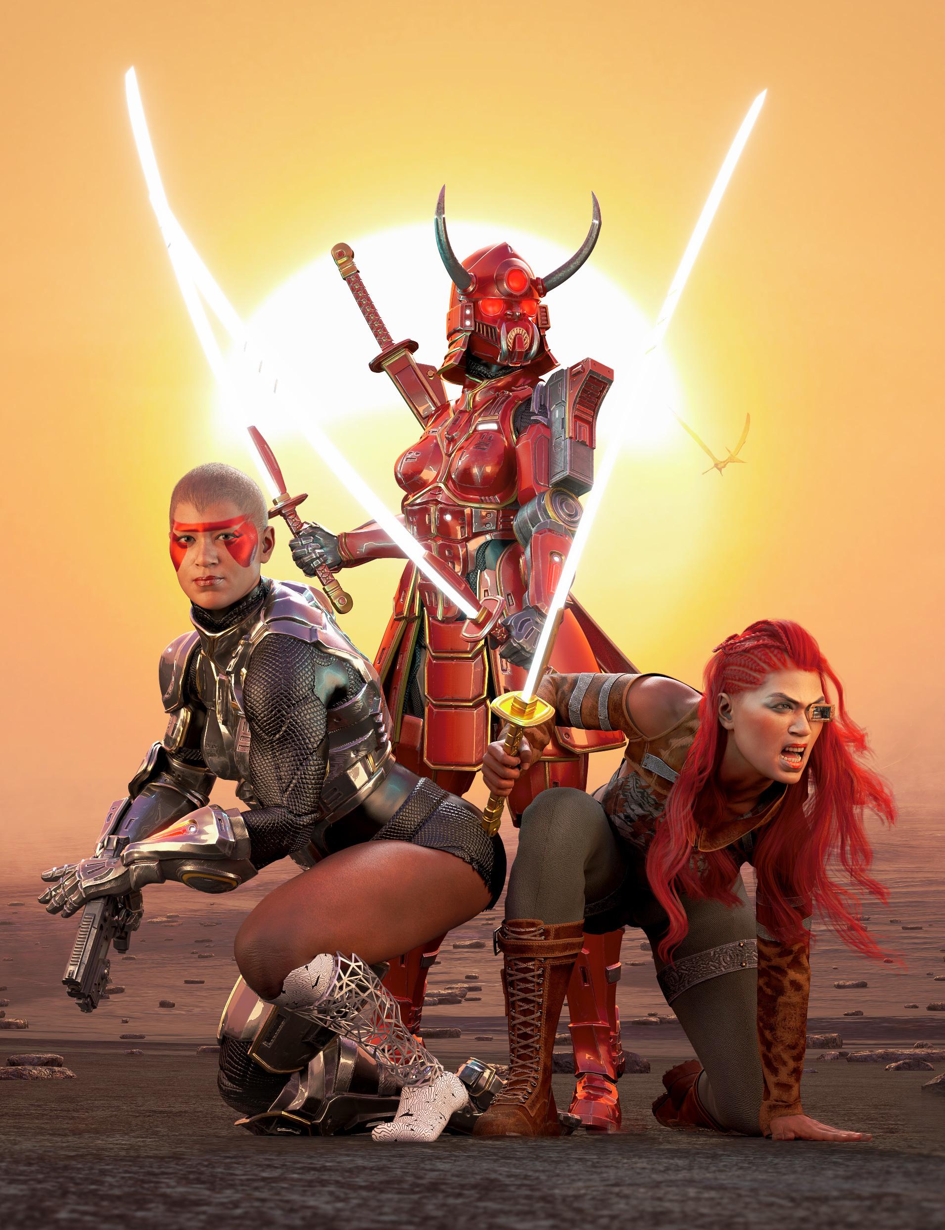 Noska 8.1 Rebel Protector 2099 Bundle by: , 3D Models by Daz 3D