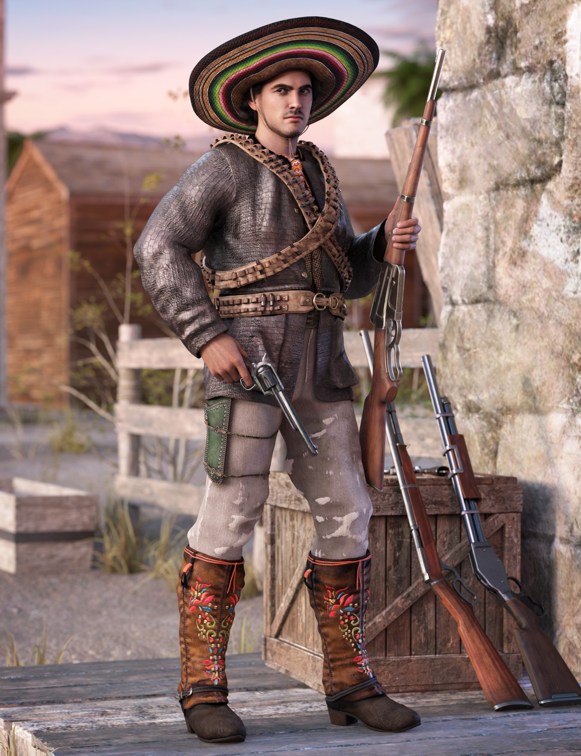 Guerrillero Outfit for Genesis 8 and 8.1 Males by: Barbara BrundonUmblefuglyShox-Design, 3D Models by Daz 3D