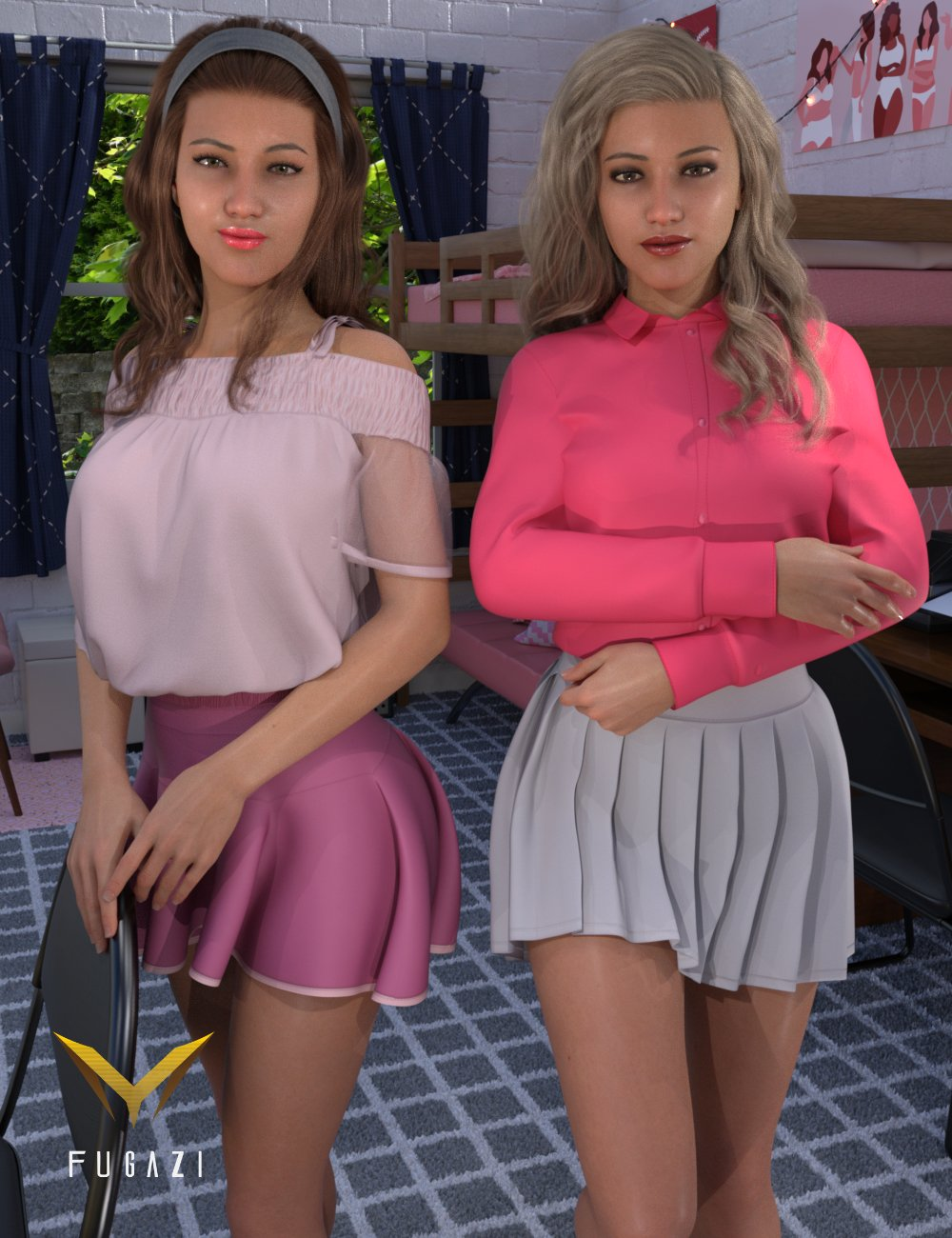 FG College Dormitory Poses by: IronmanFugazi1968, 3D Models by Daz 3D