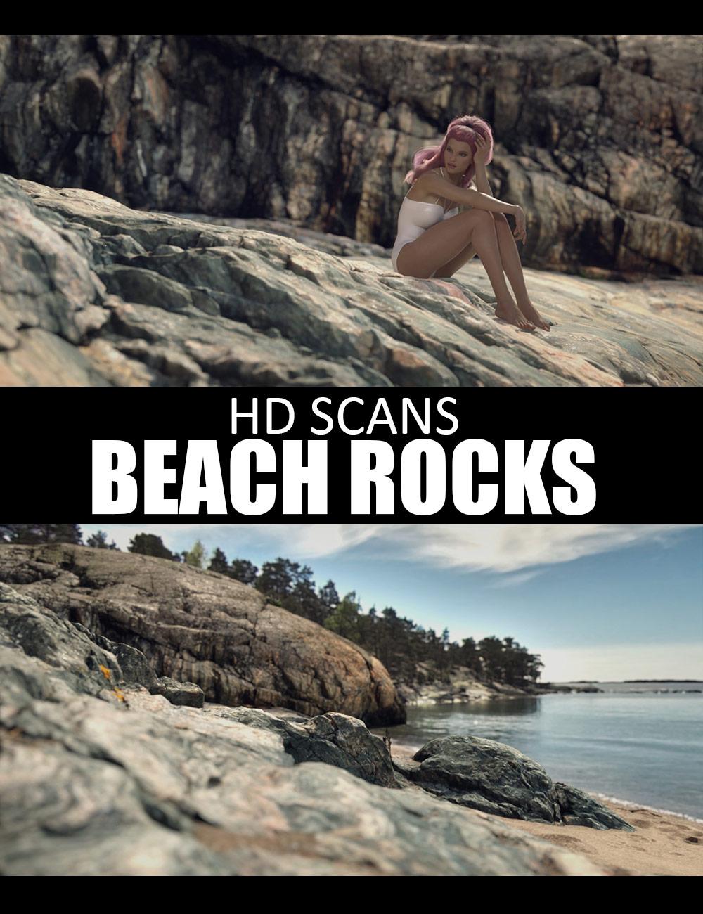 HD Scans Beach Rocks by: Dreamlight, 3D Models by Daz 3D