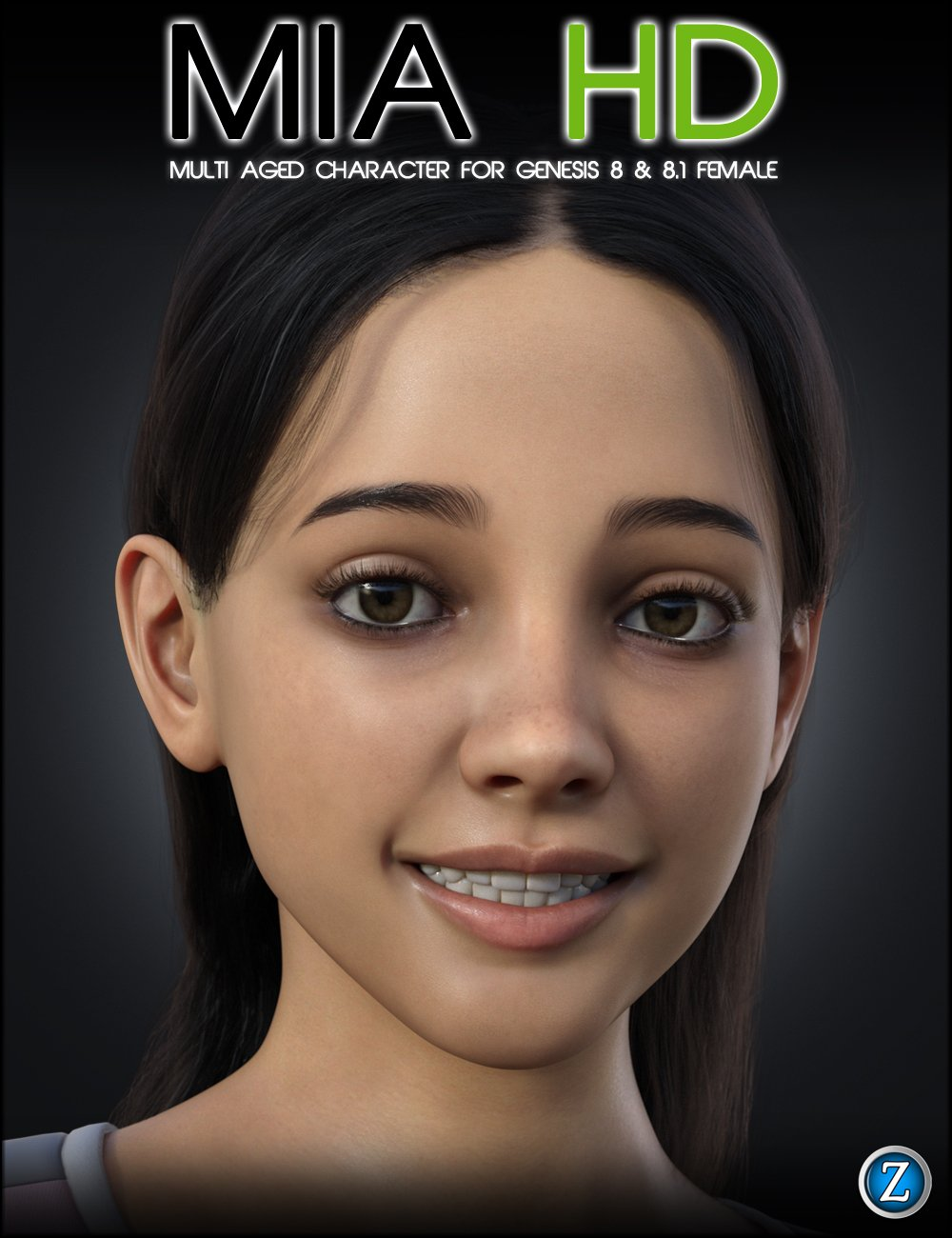 Mia HD for Genesis 8 and 8.1 Female by: Zev0, 3D Models by Daz 3D