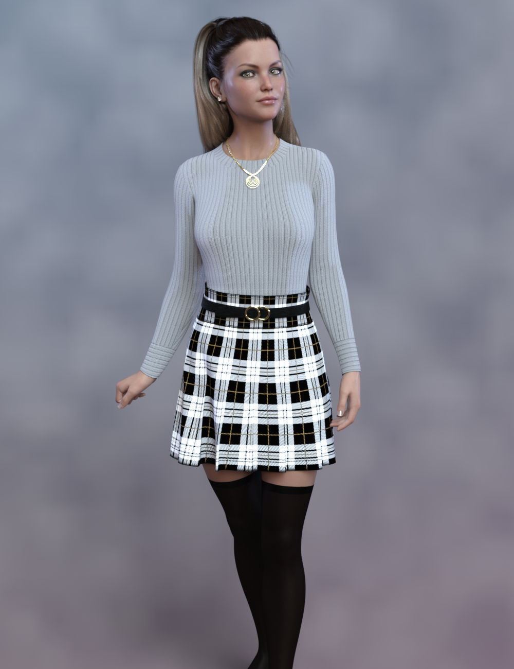 dForce Cecille Outfit for Genesis 8 and 8.1 Females by: WildDesigns, 3D Models by Daz 3D