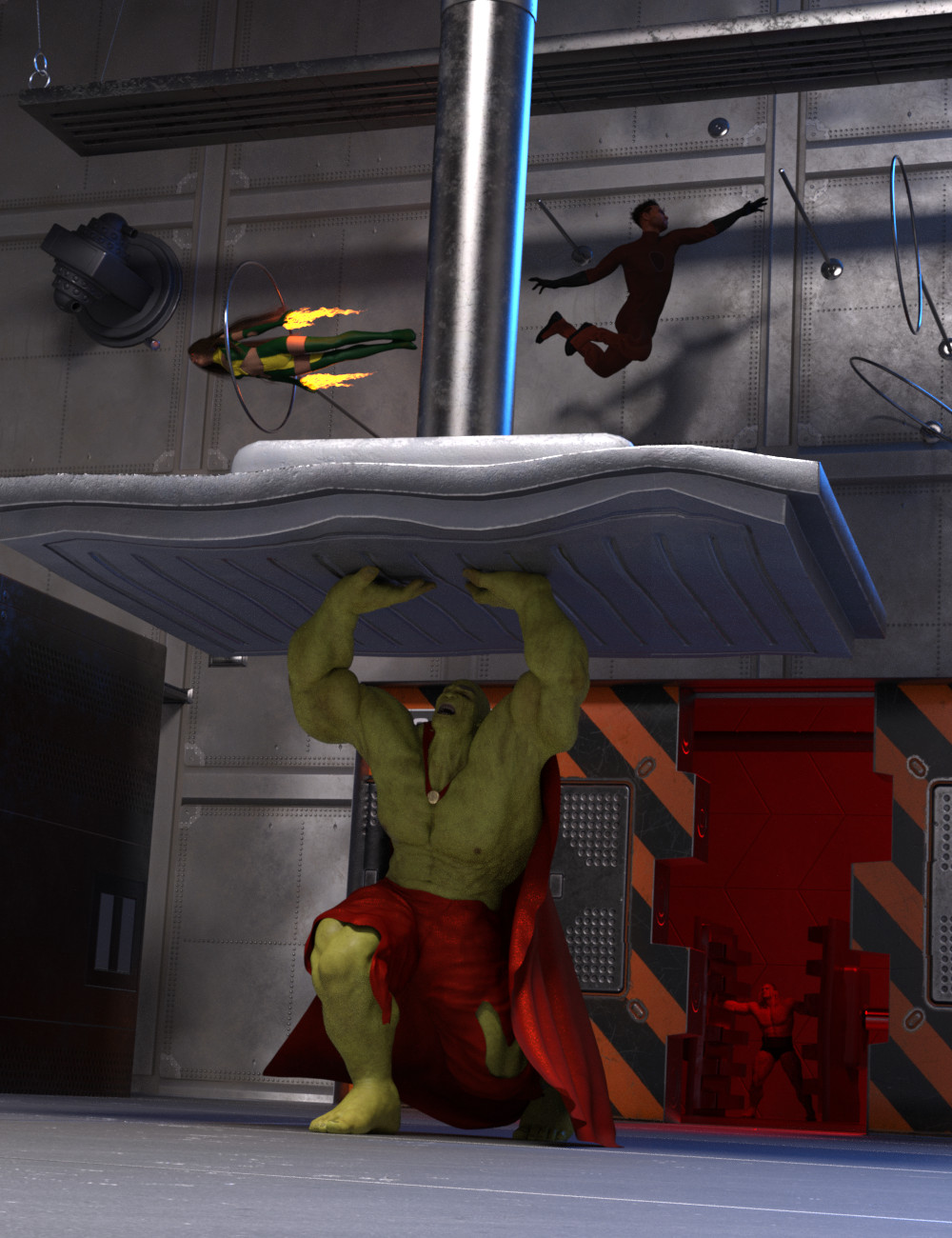 Superhero Training Room by: Silent Winter, 3D Models by Daz 3D