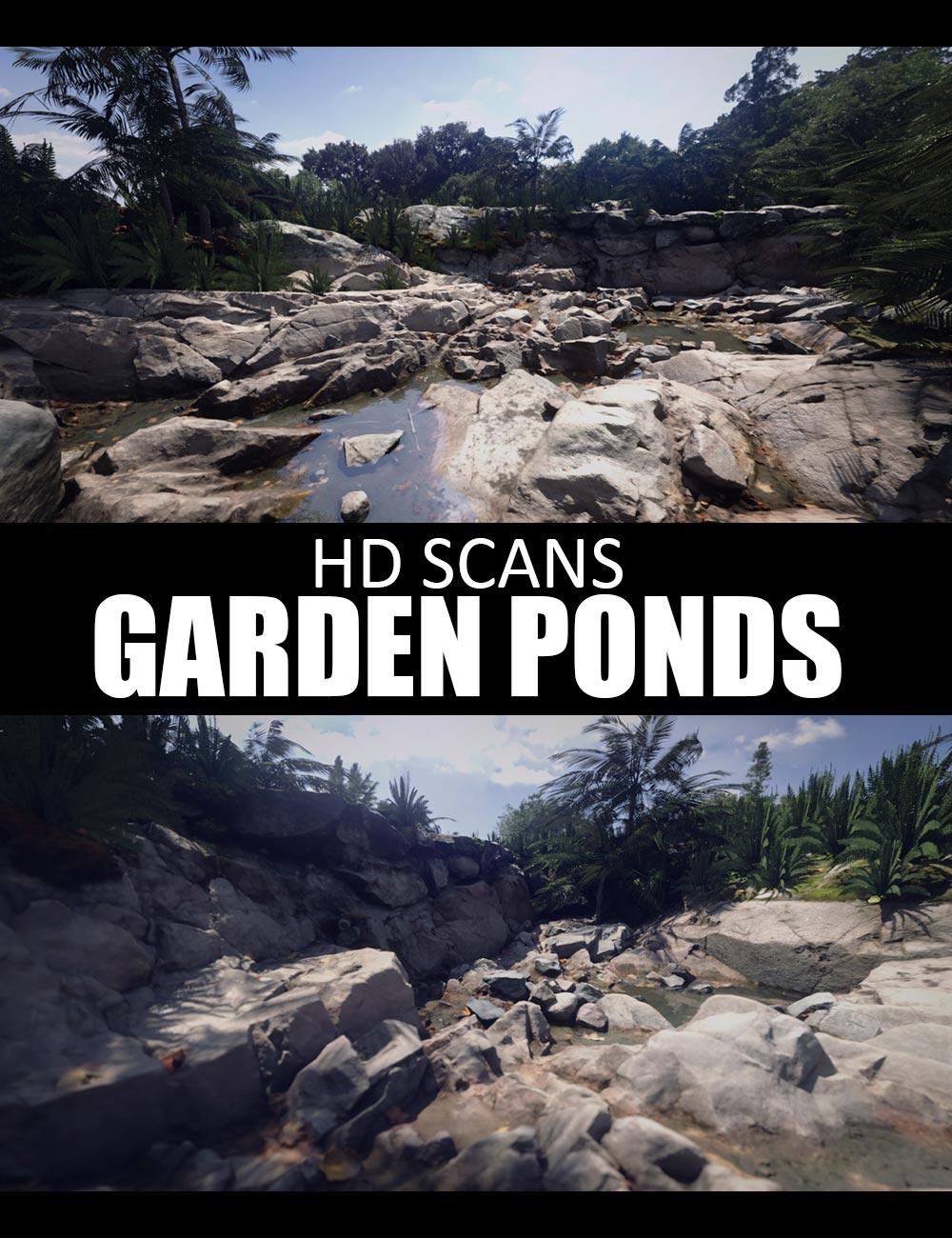 HD Scans Garden Ponds by: Dreamlight, 3D Models by Daz 3D