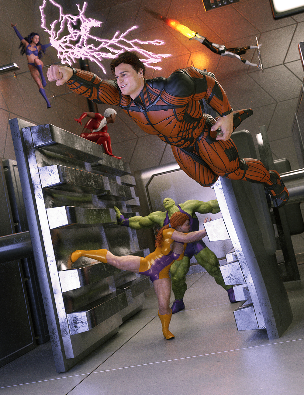 Hero-in-Training Genesis 8 Poses: Aces by: FeralFey, 3D Models by Daz 3D