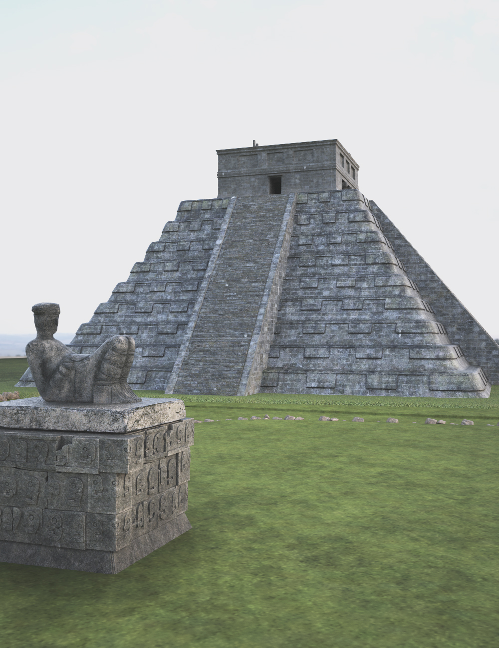 Mayan Pyramid by: Charlie, 3D Models by Daz 3D