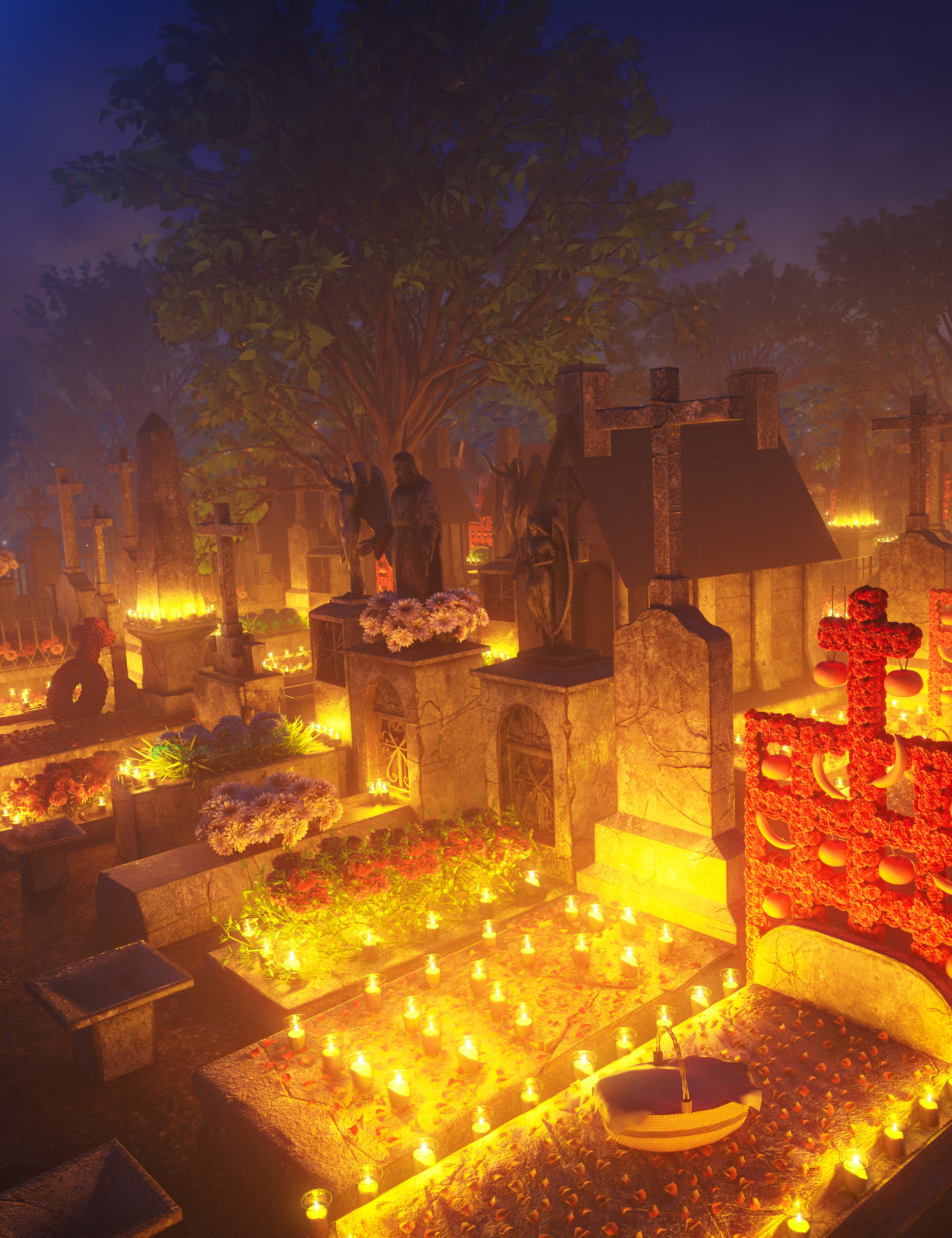 Day of the Dead Cemetery by: Charlie, 3D Models by Daz 3D