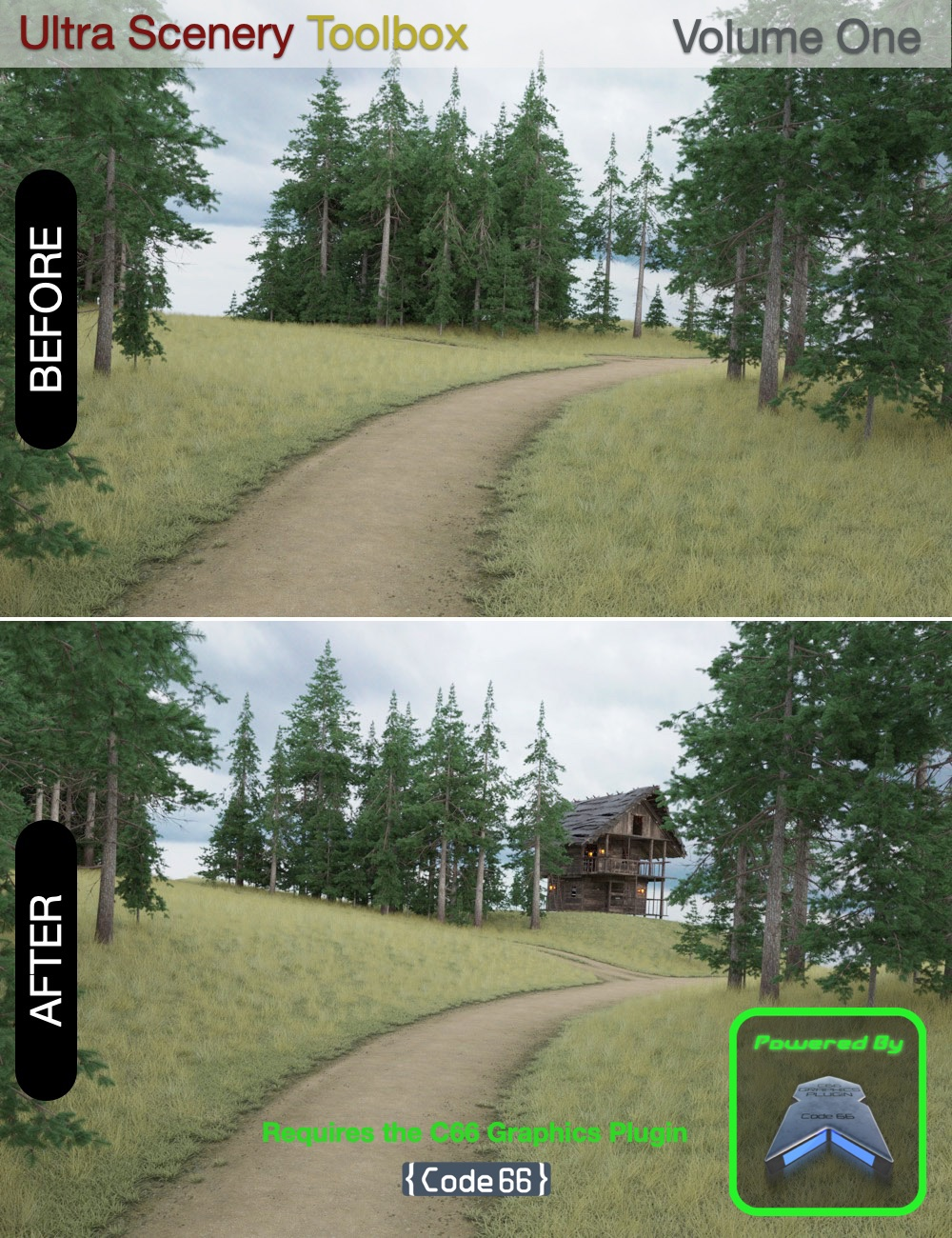 Ultra Scenery Toolbox - Volume One by: Code 66, 3D Models by Daz 3D
