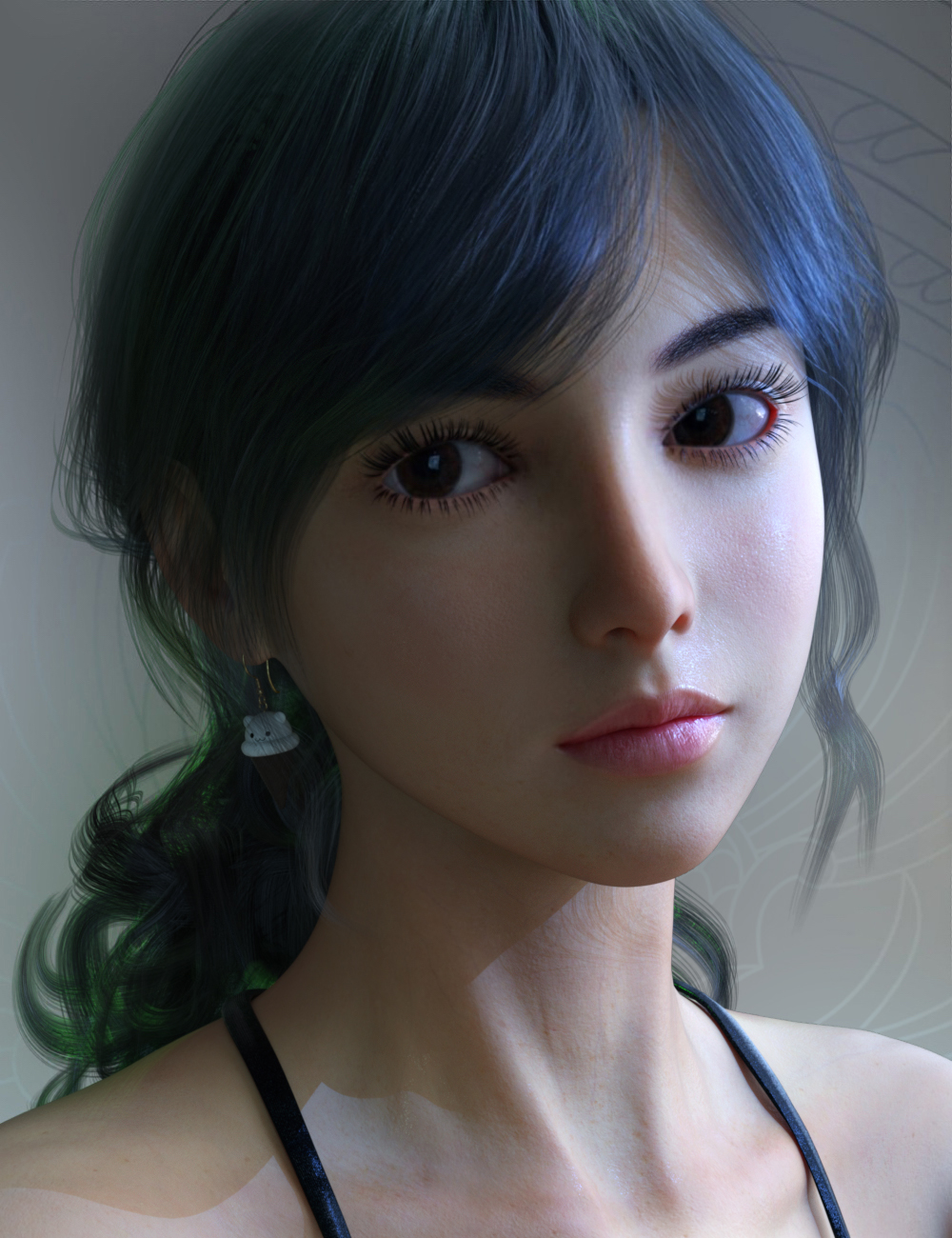 Vo Xiao Hua HD and Hair for Genesis 8.1 Female by: VOOTWSprite, 3D Models by Daz 3D