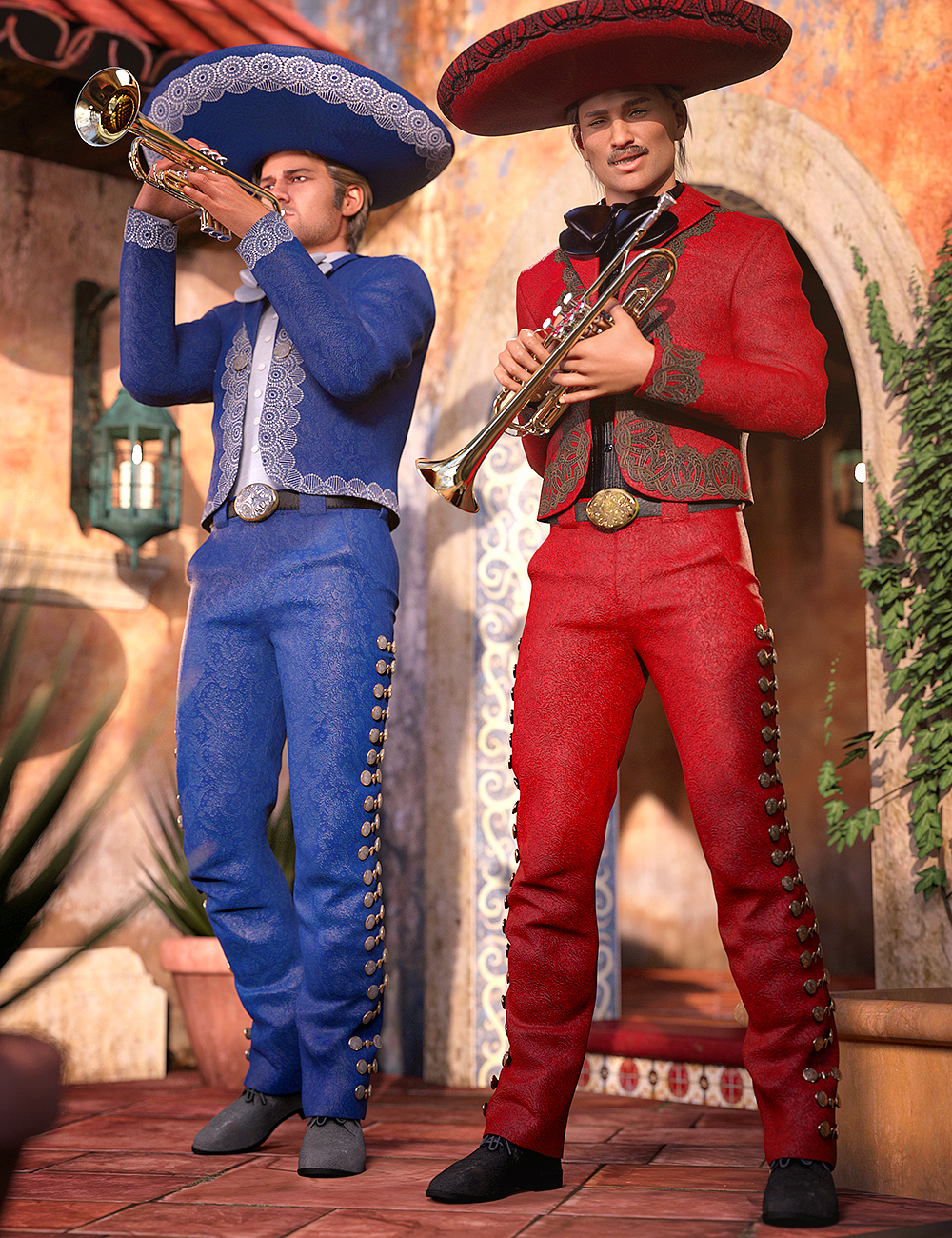 Mariachi Male Outfit Textures by: Anna Benjamin, 3D Models by Daz 3D